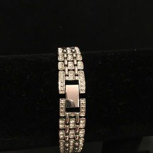 Diamonique stainless steel bracelet.   7 1/4 inch